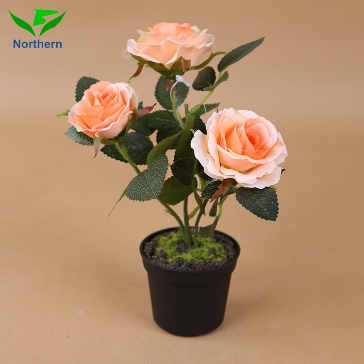 water clean decoration flowers,high imitation mini artificial rose flower plant