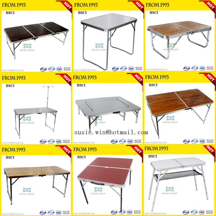 90x60x70/40cm Custom Adjustable Aluminum Folding Tables Portable ...