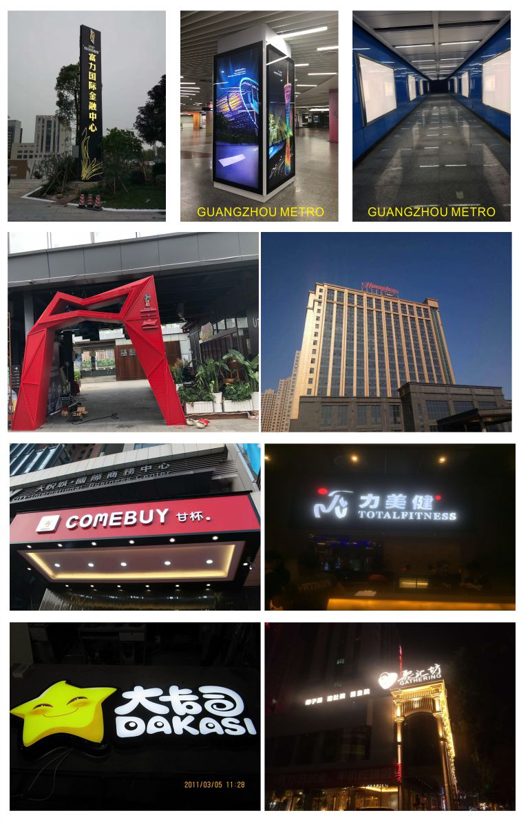 Custom Made Outdoor Advertising Bright Color Frontlit Led Sign Letters for Signage