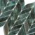 Green glass waterjet mosaic cutting wall tile leaf pattern