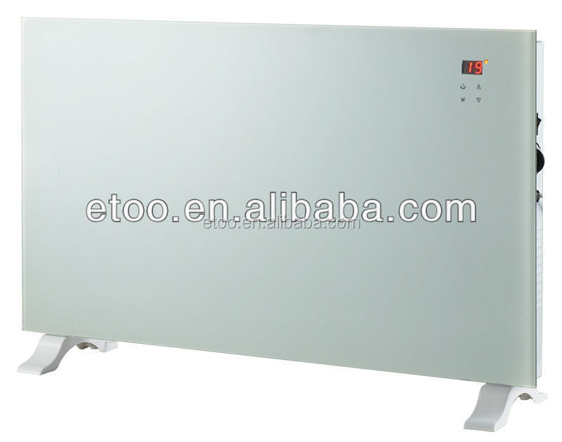 Glass Panel Liquid Crystal Display Fireplaces Electric Heaters For Aluminium Radiator Heating