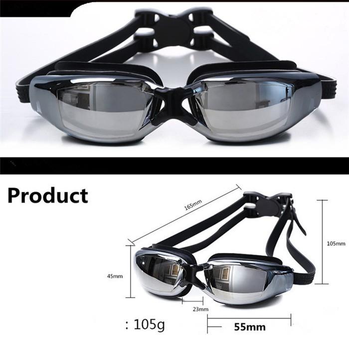 4921bd5d0 2016 Marca New Homens Mulheres Anti Fog UV Óculos de Natação Profissional  Galvaniza Óculos de Mergulho