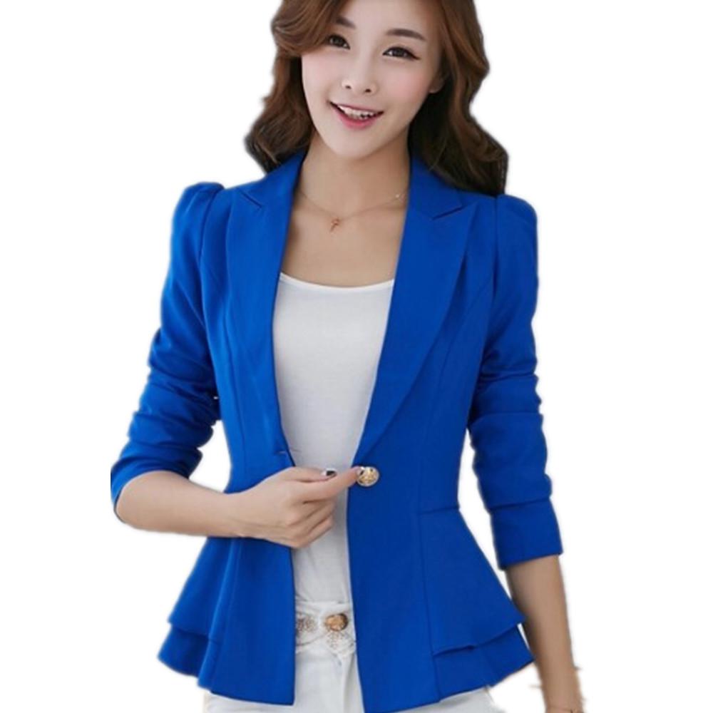 5c8e8044d4b9c Get Quotations · Free Shipping women s long sleeves Korean version flouncy  suit short women suit jacket