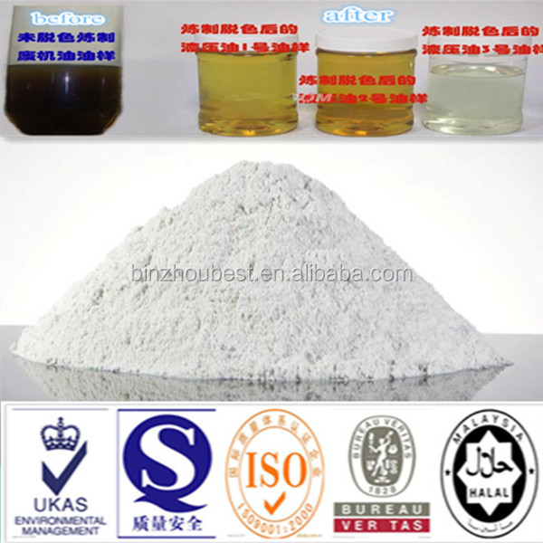 2016 bleaching earth bentonite clay remove smell of oil