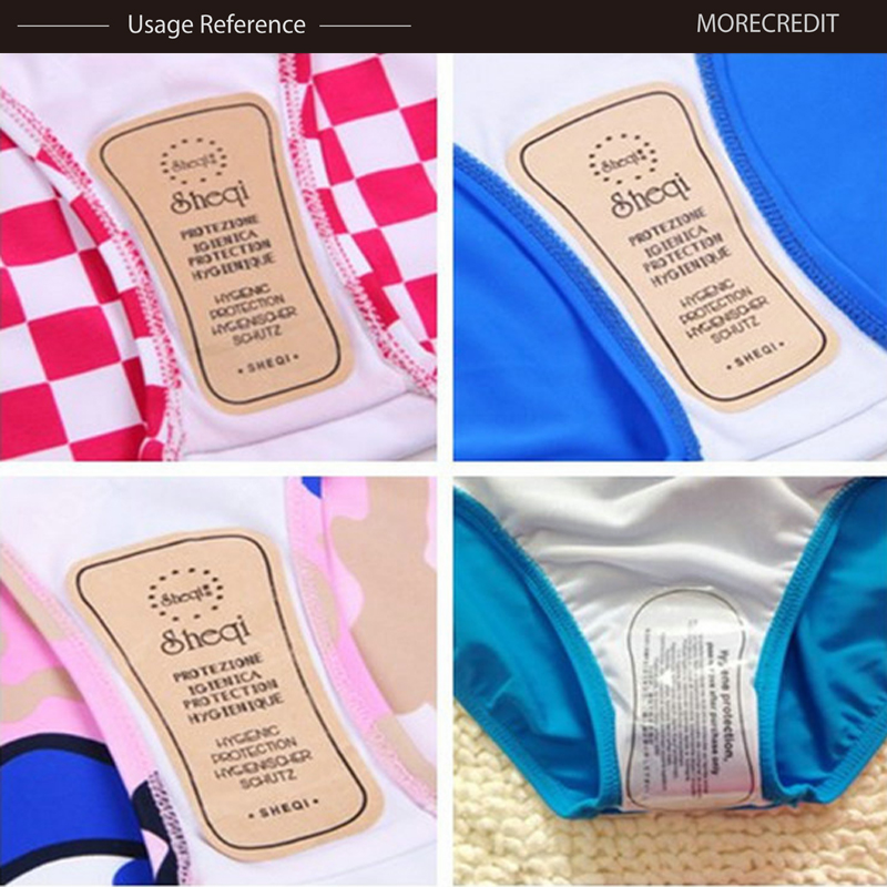 Morecredit Printed Clear Swimwear Hygienic Sticker Removable Vinyl Protection Stickers For Underwear