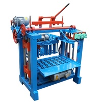Newly Sales Tanzania Clay brick Maker Machines Italy QMJ4-35A Type Cement Hollow Interlock And Block Molding Making Machine