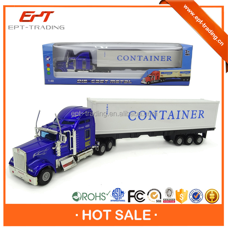 Hot selling kids big 1/50 diecast container truck model toy