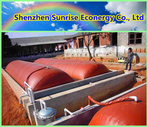 Easy to assemble pvc biogas tarpaulins project