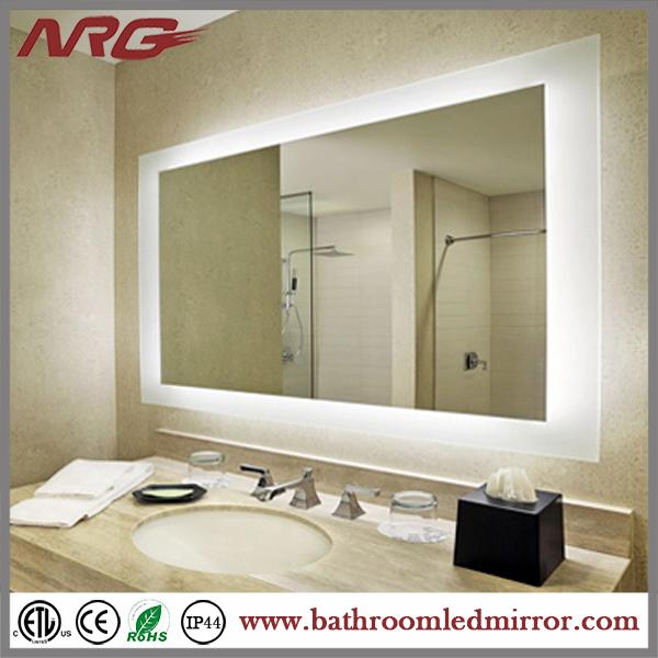 lujo encuadre de cuerpo entero de hotel bao espejo con luz led