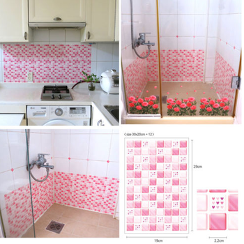 Mosaic Effect Self Adhesive Mosaic Wall Tile Decal Square Tiles -Glitter Vinyl Wall Tile 2.0