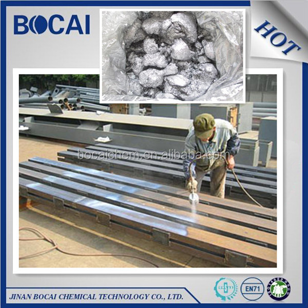 Chinese BOCAI brand non-leafing aluminium paste, metallic aluminium pigment for paint, corn flake aluminium paste