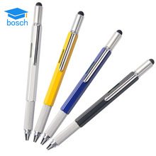 Top touch 6 in 1 tool pen spirit level ruler screwdriver and scale MultiFunction metal stylus ballpoint pen