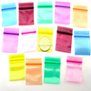 3*4cm colorful Small POLY RECLOSABLE ZIPLOCK BAGS