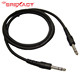 Audio av cable molded dual TRS 6.3mm stereo plug