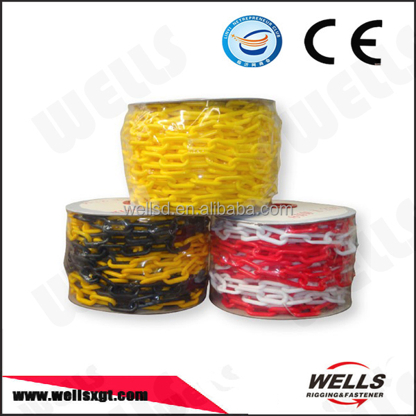 Traffic Low Price to Sell Red & White Color Durable Plastic Link Chain