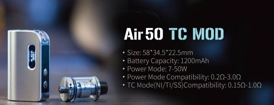 2016 Alibaba China Supplier New Arrival Air 50 Mod The Smallest ...