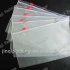 Alibaba china supplier common transparent advertising pvc plastic zipper bag underwear bag
