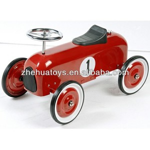 Classic Design Kids Metal Car Toy,Ride-on Racer Car