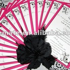 NEW 2012 Paper handmade english wedding invitation card,folding wedding invitation cards,luxurious wedding invitation card