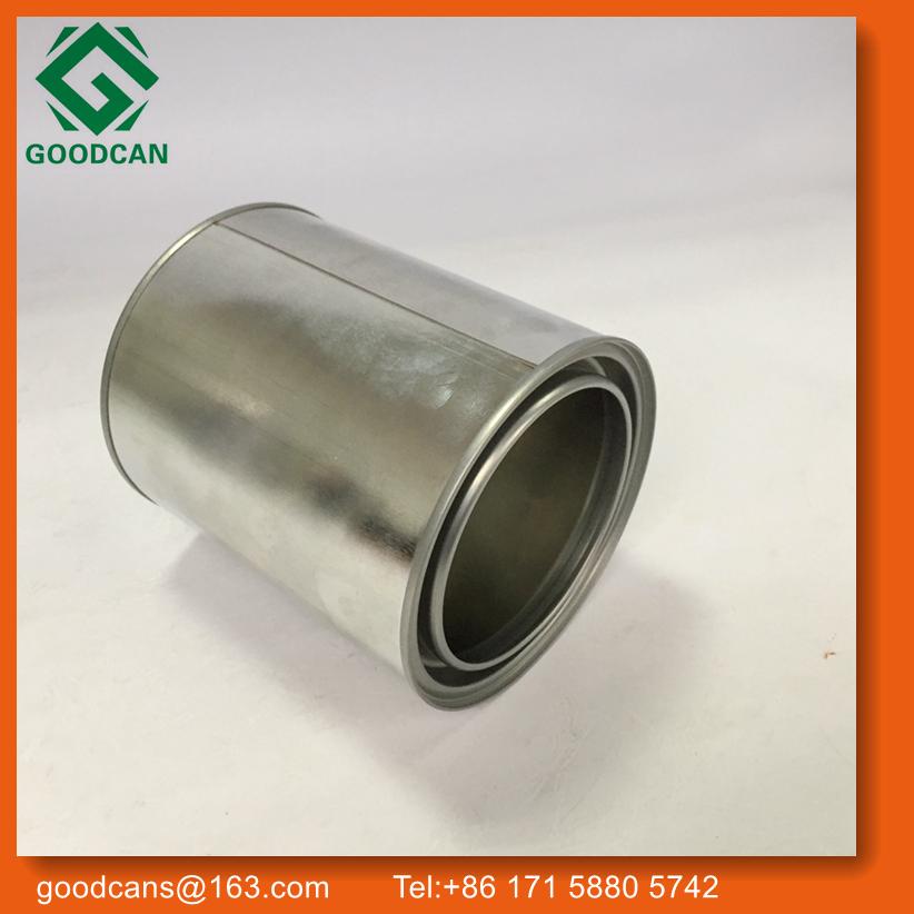 Empty Metal 1quart Round Vacuum Tank Ink Tin Tank With Lid