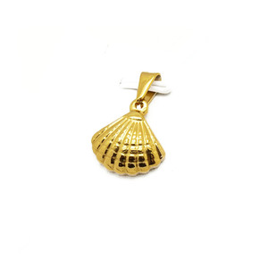 Stainless Steel Gold Plated Sea Shell Shape Pendant