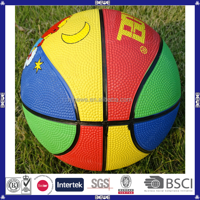 promotional cheap rubber basketball games