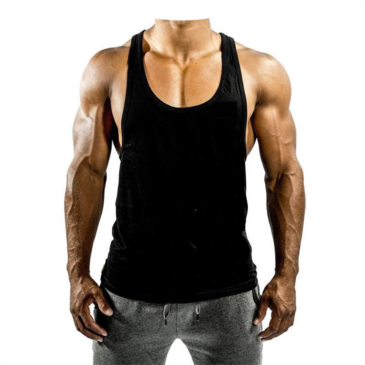 Hot koop katoen sport body building mannen gym stringer mannen tank top