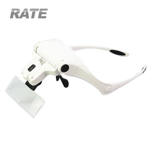 NO.9892B1 CE Approval Eyelash Glasses Wearing Led Working Magnifier for Cosmetics Beauty Shop
