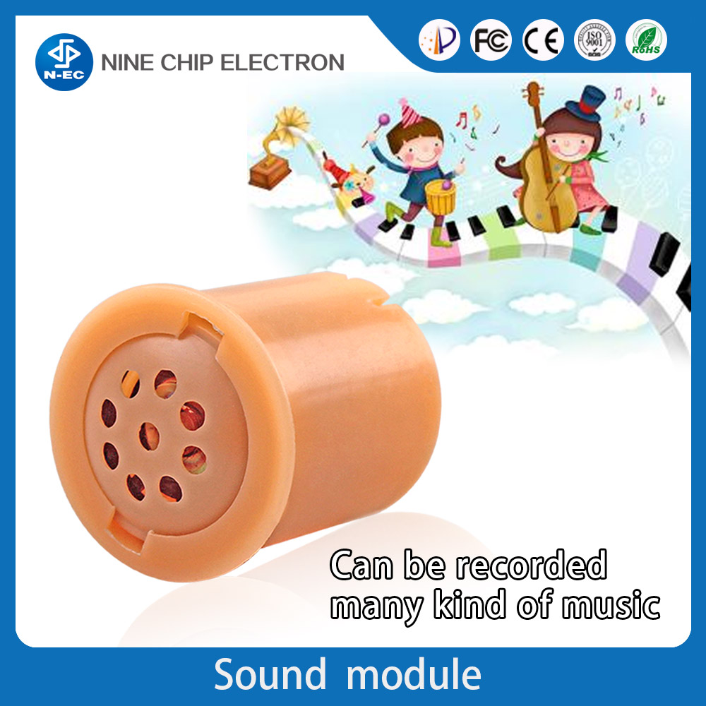 Custom music box programmable sound module for voice speaker toy