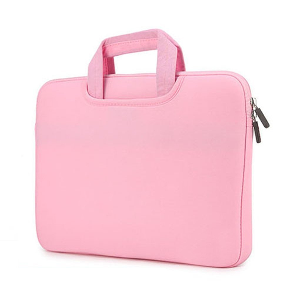 """RAINYEAR Protective 13""""-13.3"""" Neoprene Water Resistant Computer Sleeve Case Portable Slim Macbook Air 13"""" Carrying Padded Sleeve for Dell/HP/Lenovo/Asus Computer(Pink)"""