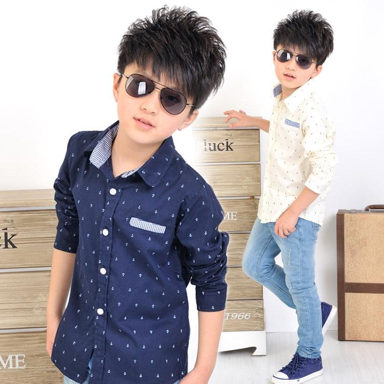 Compra niños camisa de anclaje online al por mayor de