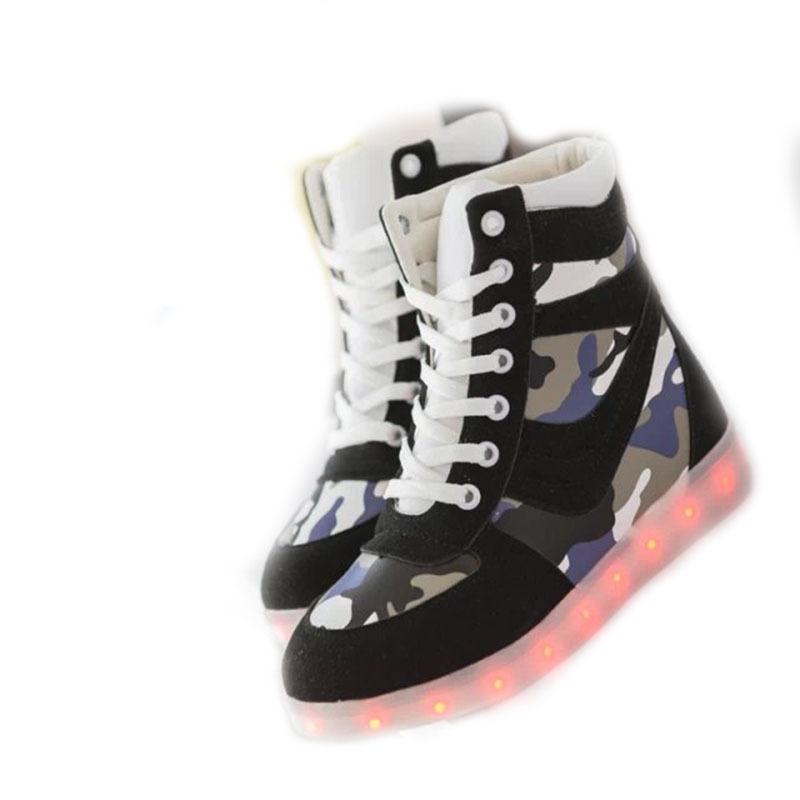 New Simulation LED Shoes For Adults Medium USB Charing LED Luminous Shoes 7  Colors Men Women 0e963eb1db41