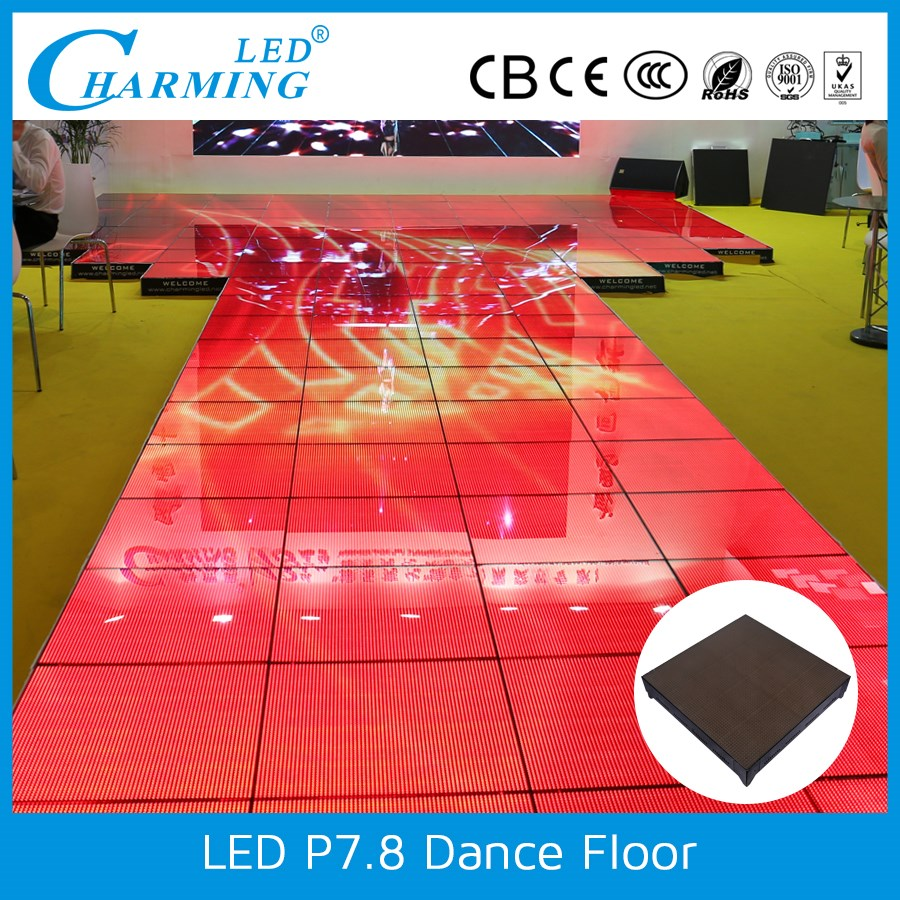 professional manufacturer LED light waterproof dance floor portable for consert stage
