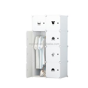 High Quality Competitive Price Plastic Foldable Bedroom Portable Wardrobe For Sale