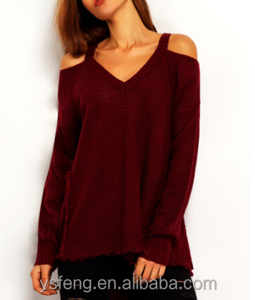 V neck Girls Fashion Clothing Fancy Womens Sweaters