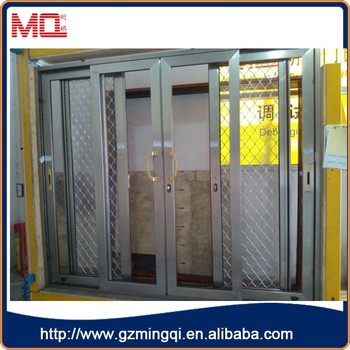 Commercial Glass Entry Exterior Sliding Doors For Sale With Grid