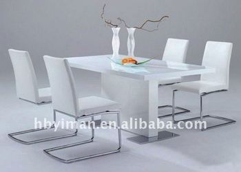 Modern Mdf White High Gloss Dining Room Table Sets Tables And Chairs Home Furniture Product On Alibaba