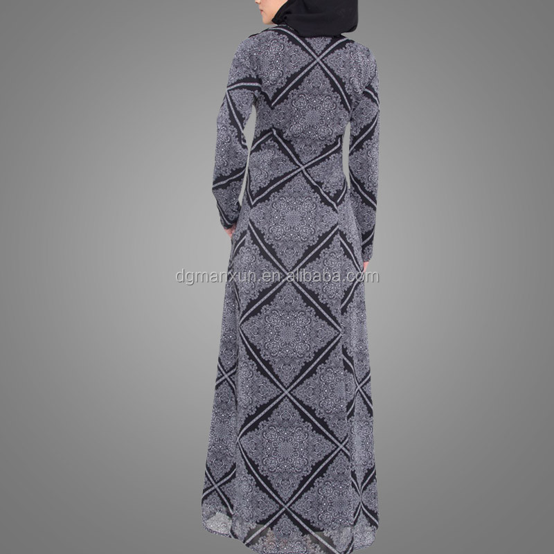 Summer Chiffon Kimono Style Modern Fashionable Islamic Clothing Front Open Abaya