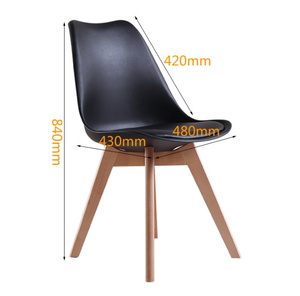 Moden cushion Tulip Plastic Dining kitchen chair