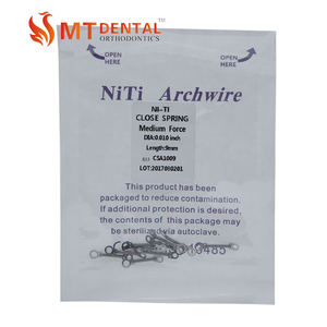 Orthodontics dental consumables materials of niti closed coil springs with eyelets