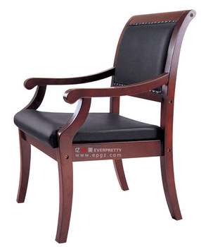 Leather Antique Teak Adirondack Wood Office Chair