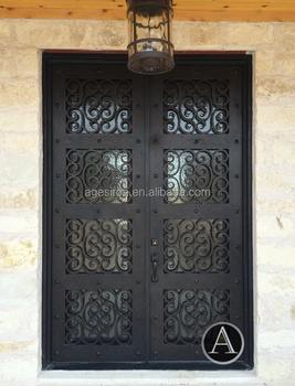 Pressed Steel Door Frames/wrought Iron Exterior Door With Sidelight