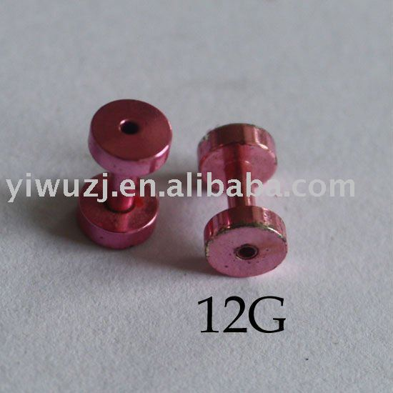 china barbell flesh tunnel screw on upper ear plugs body piercing jewelry