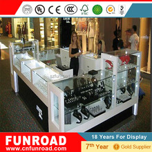 Standing jewelry display kiosk top quality factory price for supermarket/shopping mall/stores/station