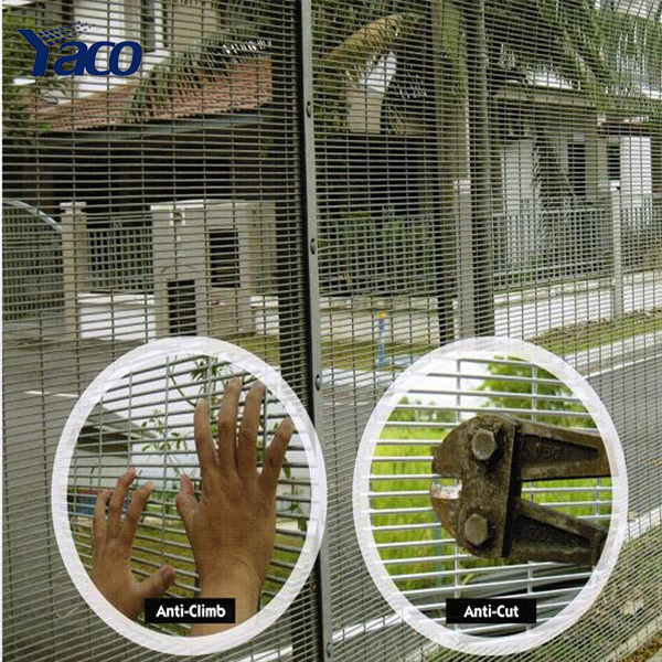 high security fence security steel security window fence for prison
