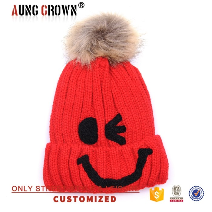 OEM/ODM wholesale made plain custom knitted wool beanie