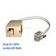 RJ11 male to RJ45 female 6p4c plug to 8p8c socket adapter