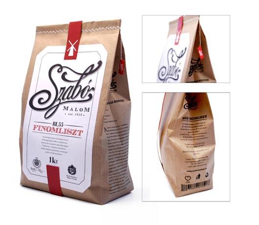 थोक निविड़ अंधकार आटा पैकेजिंग के लिए खाद पर्यावरण के अनुकूल क्राफ्ट पेपर बैग