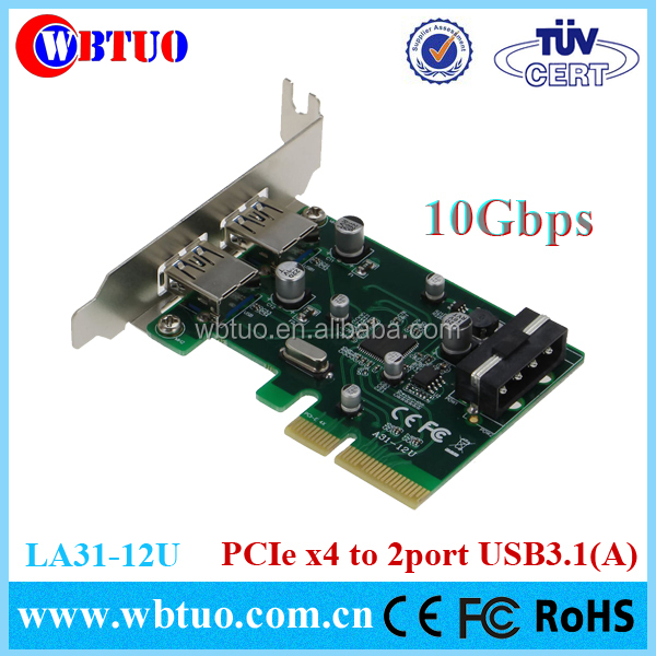 Pci Express To 2 Ports Usb3.1 Host Controller Expansion Card ...