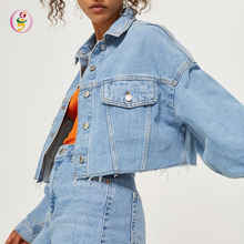 2018 Fashion Vrouwen <span class=keywords><strong>Shorts</strong></span> Cropped Oversize <span class=keywords><strong>Denim</strong></span> Jas Twee Delige Set